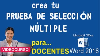 Prueba de Selección Múltiple - Word 2016