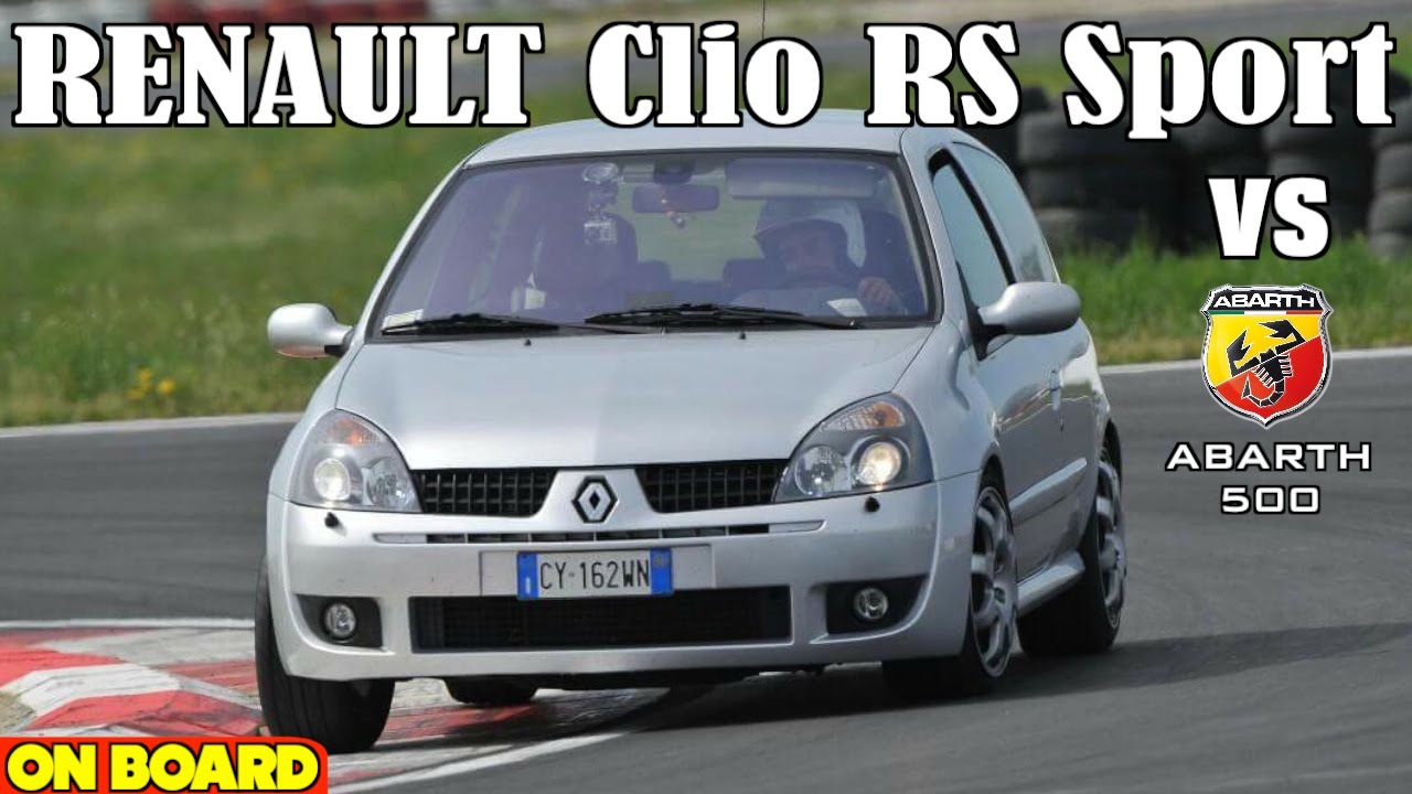 renault clio rs sport 2 0 16v vs abarth 500 acceleration sound exhaust loud youtube. Black Bedroom Furniture Sets. Home Design Ideas