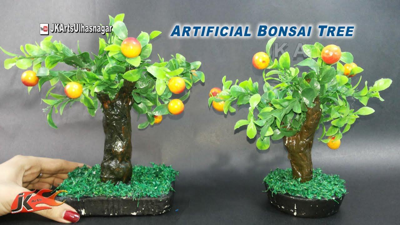 Diy Artificial Bonsai Tree Tutorial How To Make Jk Arts 923 Youtube