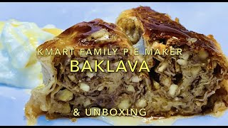 Kmart Family Pie Maker unboxing Pie Maker Baklava video recipe Cheekyricho Cooking ep 1 311