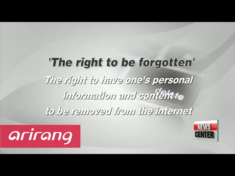 The right to be forgotten vs. the right to know