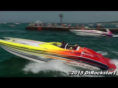 EPIC: Dozens of Offshore Racing Boats Accelerating