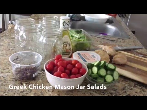 How to Make Greek Chicken Mason Jar Salads