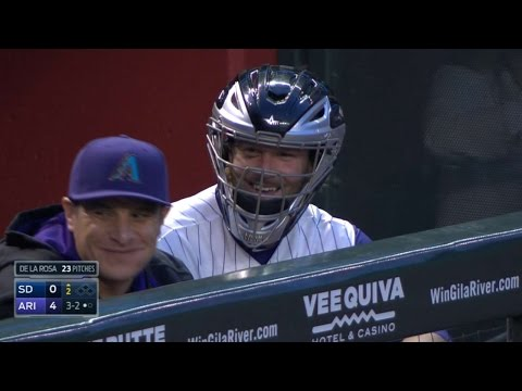 Bradley almost hit with foul ball, wears mask