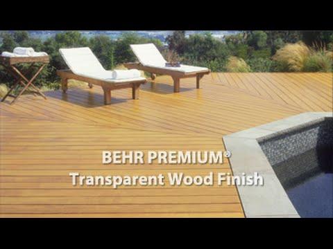 Behr Premium 174 Transparent Weatherproofing All In One Wood