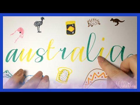 ASMR 🐨Australia Day + Invasion Day  🇦🇺 Australian History! + Drawing | Photos Of Australia 🐨🌏Whisper