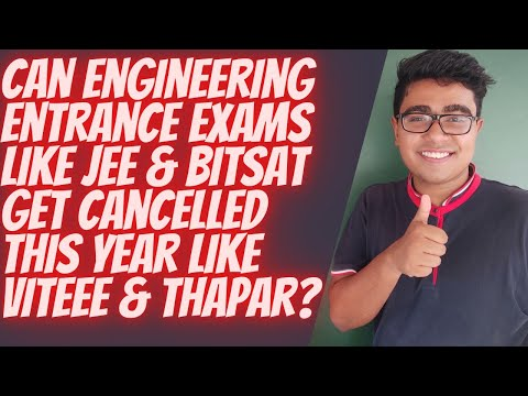 CAN JEE MAIN / BITSAT BE CANCELLED LIKE VITEEE? KNOW THE TRUTH BY ARINDAM ROYCHOUDHURY | JEE MAIN'20