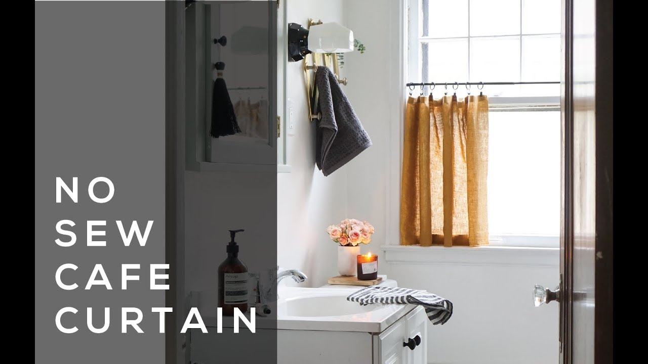 No Sew Cafe Curtain Youtube