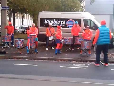Bubenícka Show Tambores at Dresden Marathon October 23. 2016
