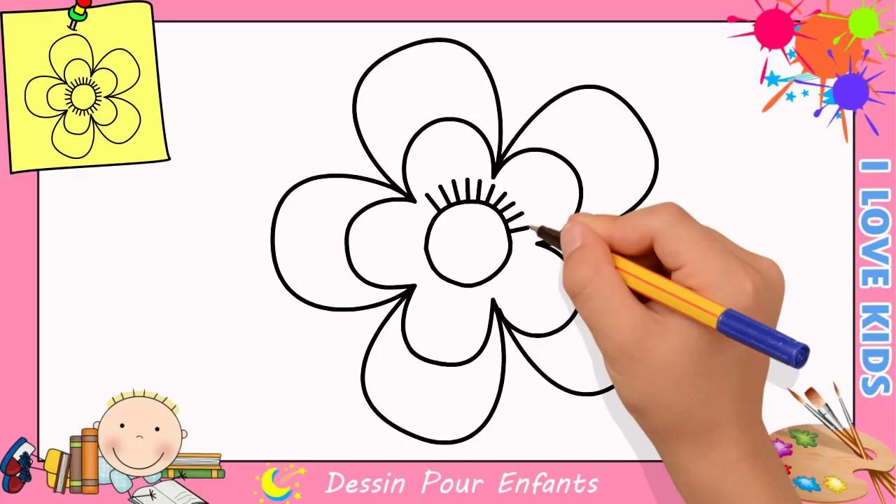 Comment Dessiner Une Fleur Facilement Etape Par Etape Pour Enfants 4 Youtube