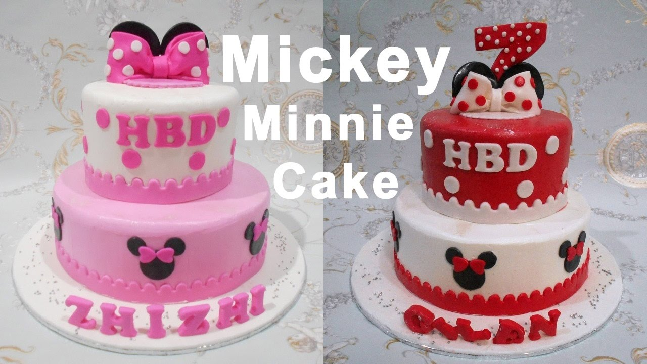 Mickey Minnie Cake Decorating Youtube