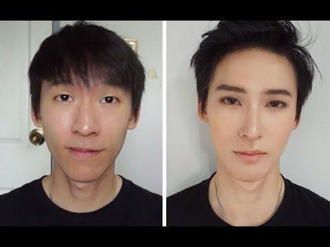 Natural Korean Male Makeup [Eng Sub, ซับไทย] แต่งหน้าผู้ชายสไตล์อปป้า I จับเพื่อนมาแปลงร่าง 6