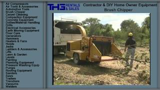 Brush Chipper, THG Rental & Sales, Rental equipment clearwater