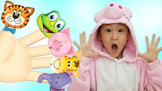 Finger Family Song | Learn Color with Animals balloon | Kids song & Nursery rhymes