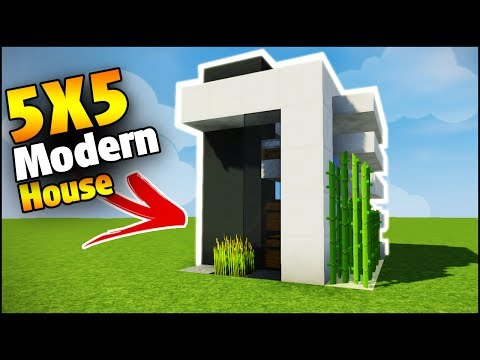Minecraft 4x4 starter house tutorial how to build a for Modern house 5x5