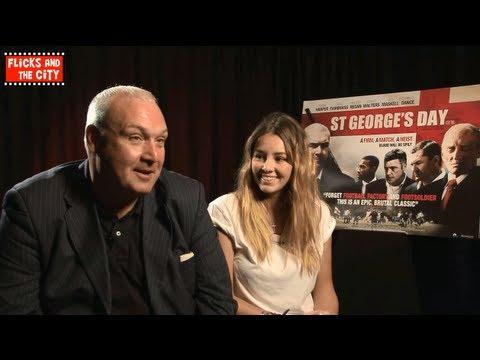 Keeley Hazell & Frank Harper  on St George's Day film