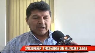 SANCIONARÁN A PROFESORES QUE FALTARON A CLASES