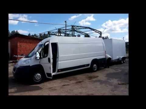 видео: Фургоны на базе прицепов для dhl. Ситроен. Производство ООО Багем