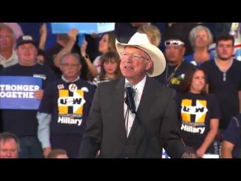 Sen. Salazar,  Hillary Clinton presidential campaign by Nick, ENG cameraman
