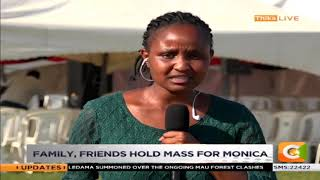 Family, friends hold mass for Monica Kimani