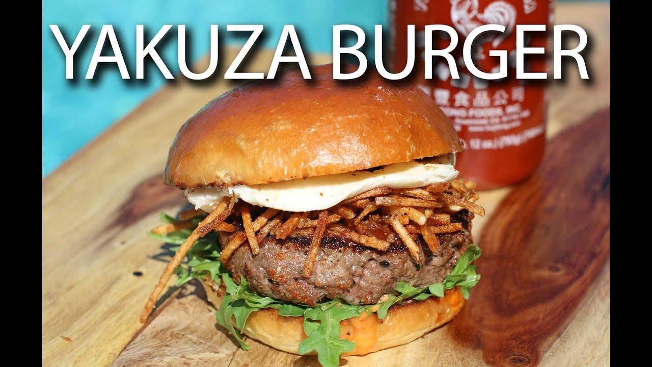 yakuza lounge burger recipe big meat sunday youtube