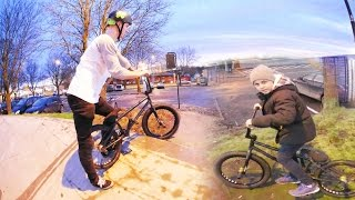 SMALL KID HELPS ME DO MY DREAM BMX TRICK!!