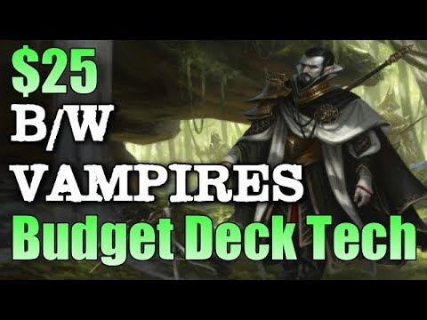 Mtg: $25 Budget B/W Vampires In Ixalan Standard!