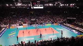 Stuttgart vs. Dresden. 1. Volleyball Bundesliga Damen. Finale 4. Playoff Stuttgart 30.04.16