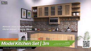Model Kitchen Set Panjang 3 Meter   Kayu Jati Belanda #Fariswooden