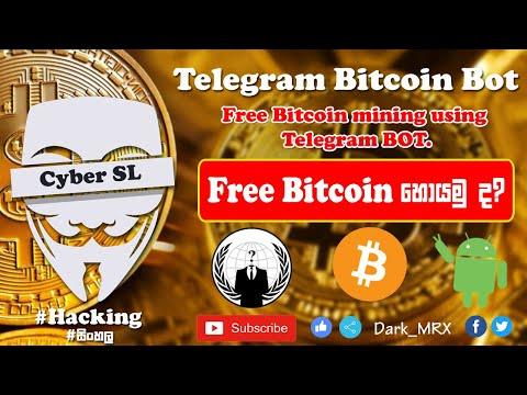[Sinhala] How to Mine Bitcoin using Telegram | Telegram Bot Bitcoin Mining 2019 #cybersl