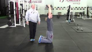 EricCressey.com: Kneeling Overhead Dumbbell Hold to Stand