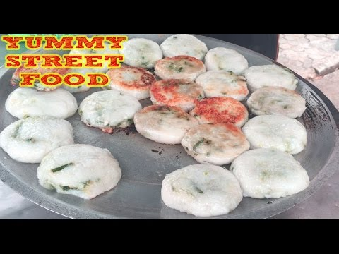 Asian Street Food-Cambodian Food-roasted pork,rice cake,grilled frog, fish,Beef Hot Dogs(part 1)
