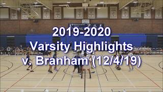 2019-2020 LHS Basketball Highlights - Varsity vs Branham