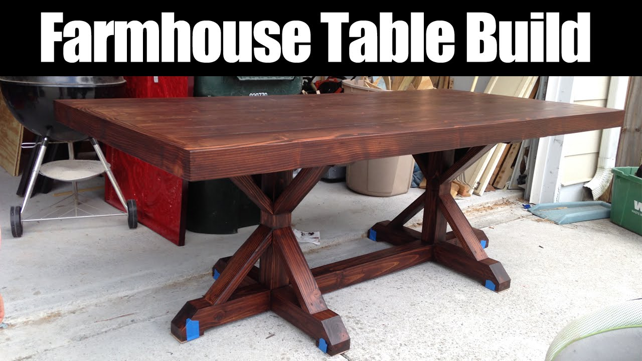 Farmhouse Table Build CMRW36 YouTube