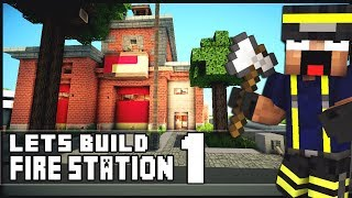 Minecraft Lets Build: SimCity Fire Station - Part 1