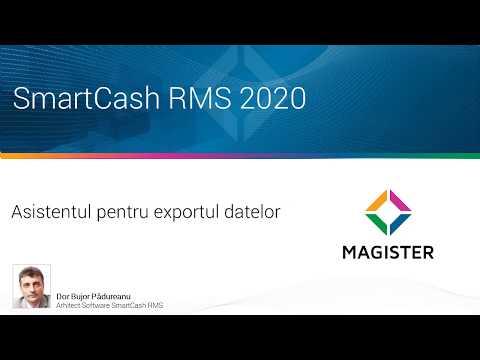 Asistentul pentru exportul datelor din SmartCash RMS