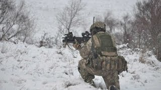 British Army Live-Firing Snow Exercise