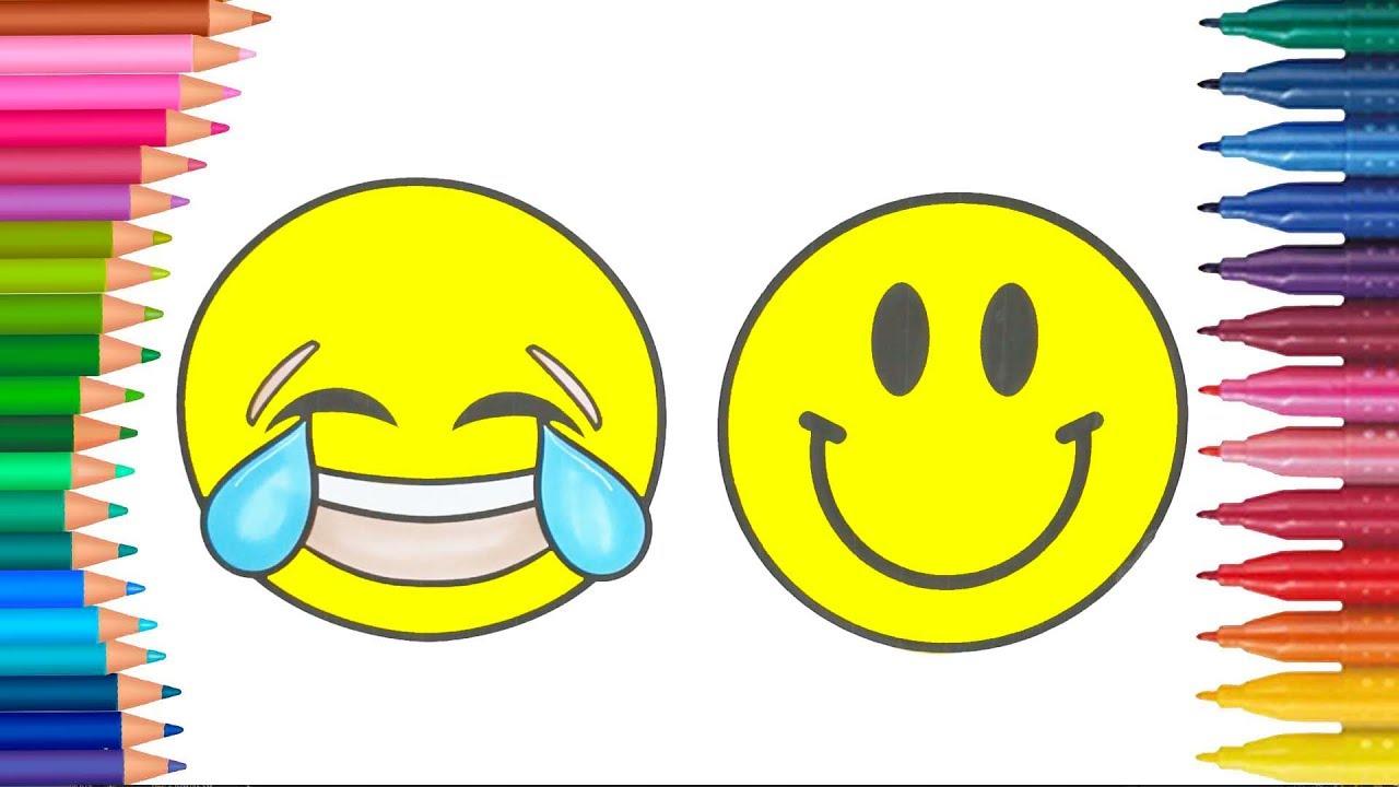 Emoji Mewarnai Buku Mewarnai Tangan Kecil