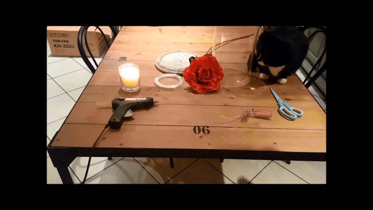 tuto st valentin la rose de la belle et la b te youtube. Black Bedroom Furniture Sets. Home Design Ideas