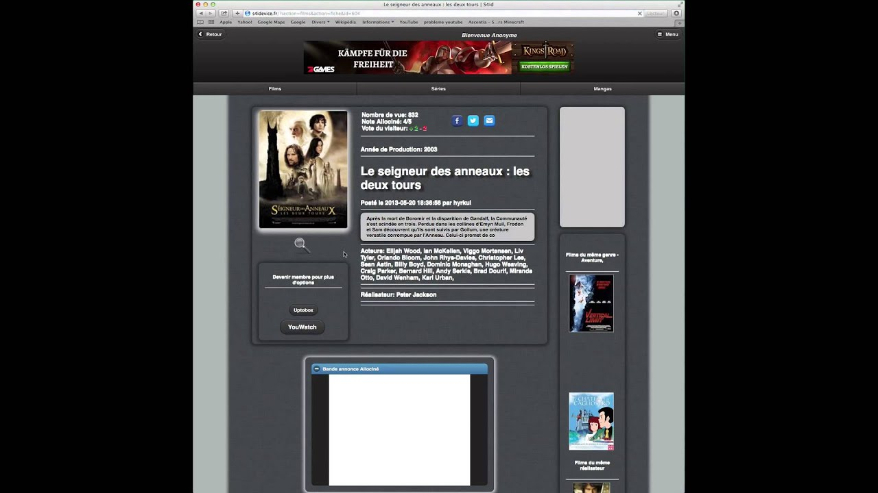 telecharger des films sur macbook air