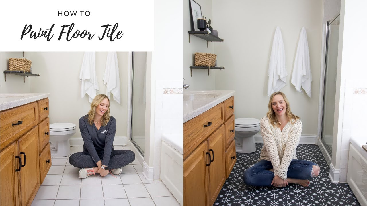 how to paint your tile floor with rust oleum home paint