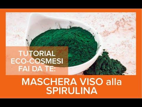 Maschera alla spirulina: tutorial