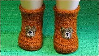 Пинетки крючком на любой размер. Вязание пинеток крючком. Пинетки. Часть 1. (Booties Crochet. P. 1)