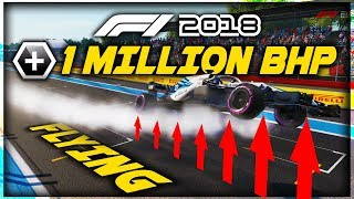 What Happens When An F1 Car Has 1 MILLION BRAKE HORSEPOWER (BHP)!!! - Game Breaking F1 Experiment!