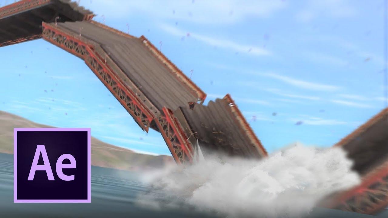 Golden Gate Bridge Collapse (After Effects VFX) Explosion ...