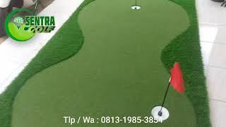 PROMO.. Lapangan Mini Golf Sintetis Portable Putting Green 2.5m x 1.2m