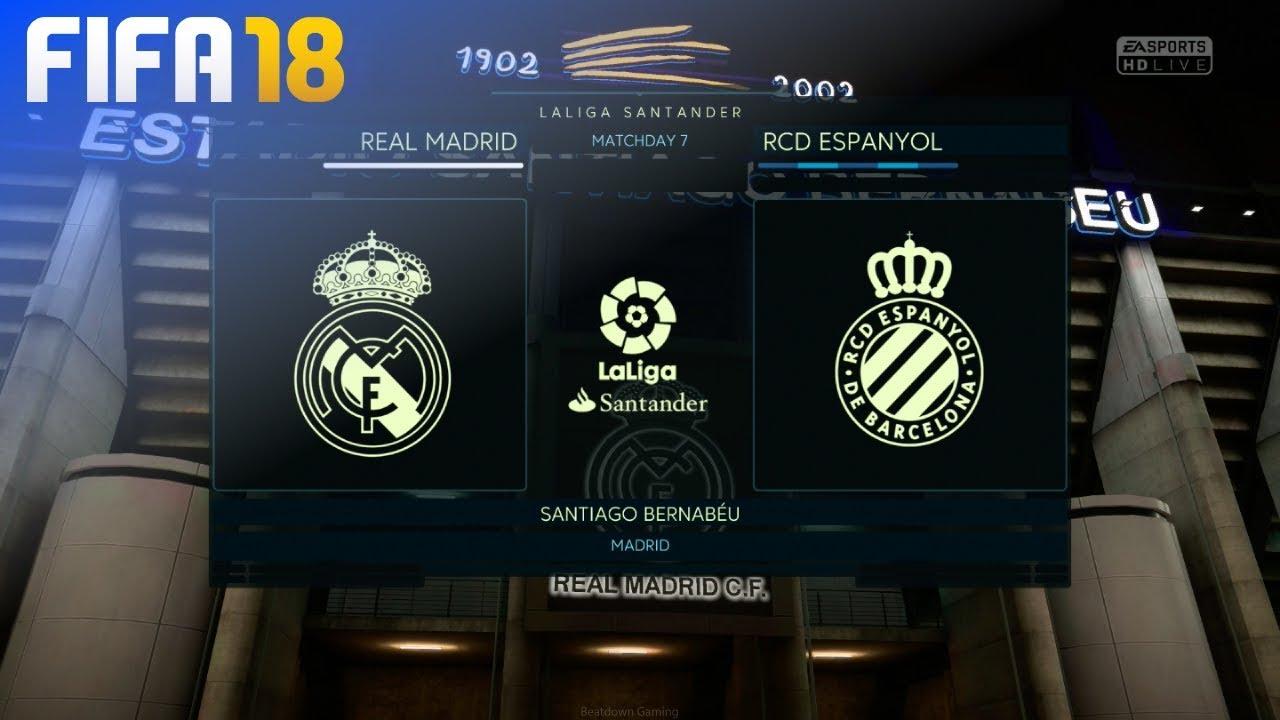 Fifa 18 Real Madrid Vs Rcd Espanyol Estadio Santiago Bernabeu