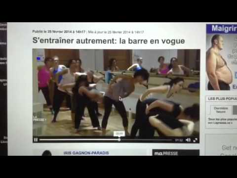 BarreConcept Workout featured in Montreal on La Presse
