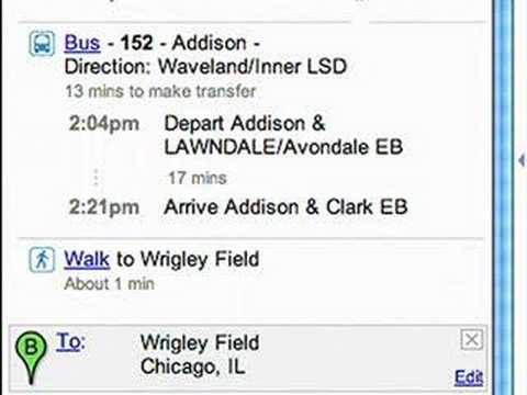 Chicago transit on Google Maps