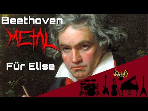 Ludwig van Beethoven  Für Elise Bagatelle No 25 in A minor 【Intense Symphonic Metal 】